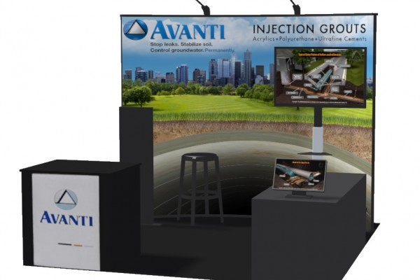 Tradeshow Booth Design illustration 3D rendering