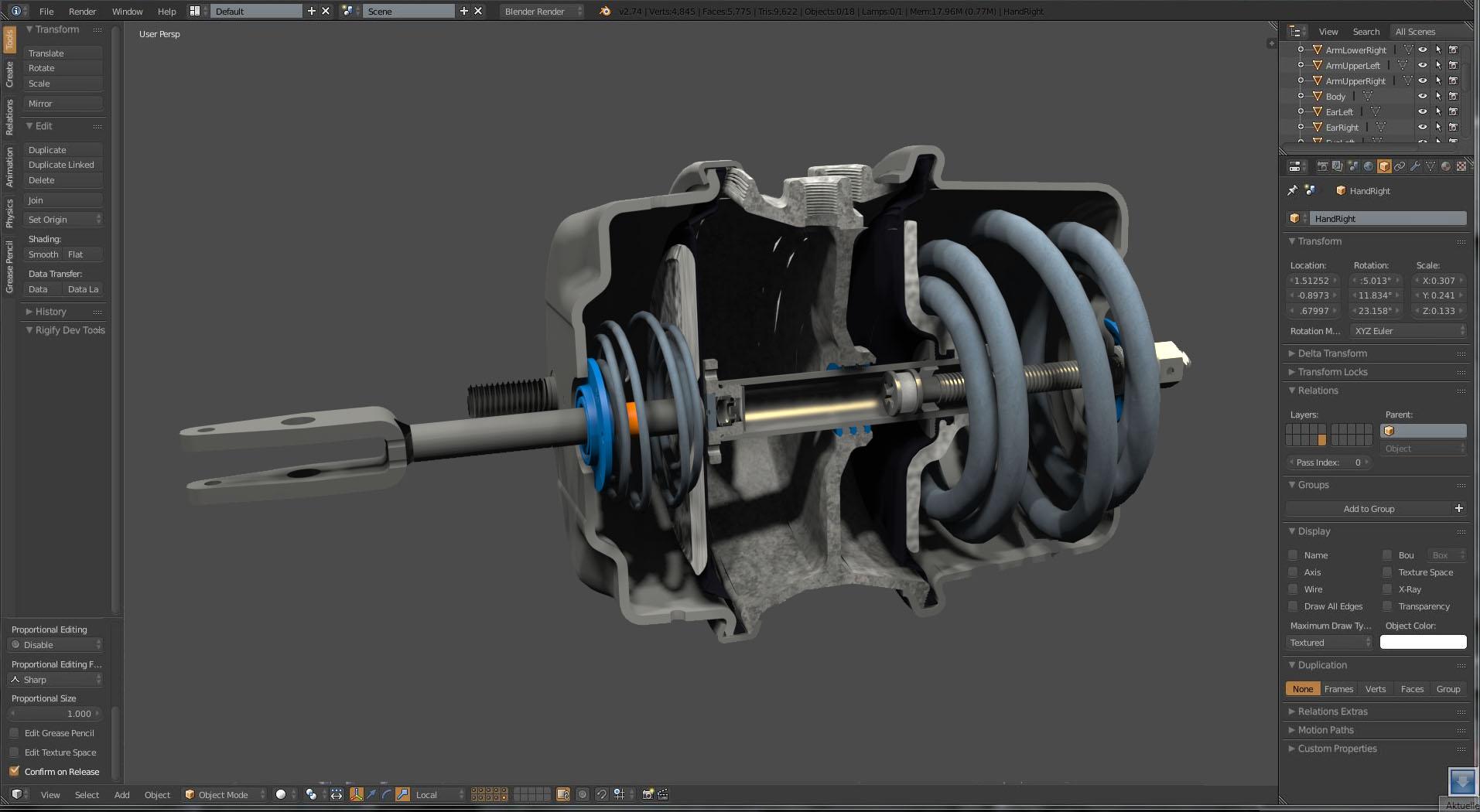 cad illustration 3D model blender game art