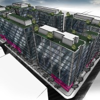 3D architectural rendering technical magazine illustration