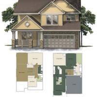 2D architectural rendering illustration floorplan arch vis animation