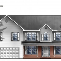 architectural exterior elevation graphic illustration render watercolor