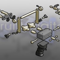 3D exploded view diagram illsutartion