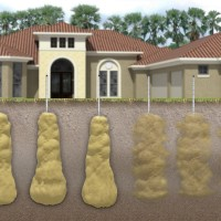 Grout Soil Stabilization illustration 3D technical animation