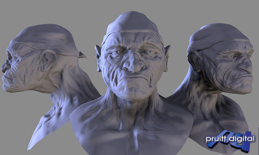 Cmivfx Zbrush Character Concept Design : Old man sculpt pruitt digital technical illustration