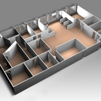 3D architectural rendering illustration floorplan arch vis animation
