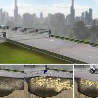 illustration 3D rendering magazine concrete truck
