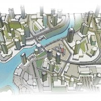 map illustration 3D rendering graphic