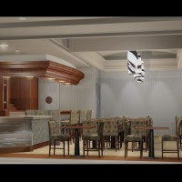 Restaurant Rendering architectural illustration 3D vray