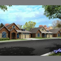 3D architectural rendering technical illustration streetscape