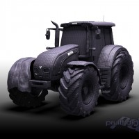 tractor illustration graphic magazine ad